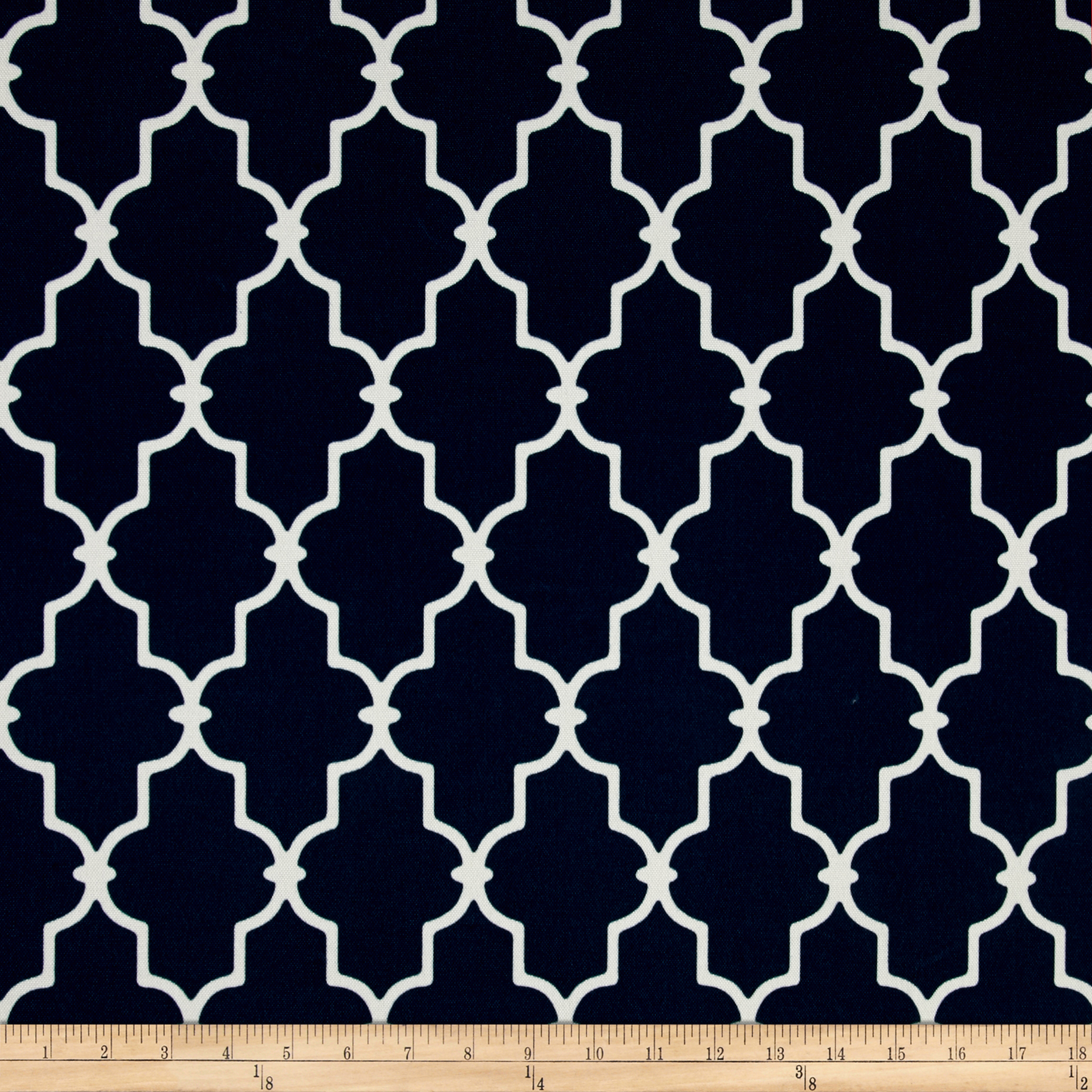 Bryant Indoor/Outdoor Garden Gate Navy Fabric by Bryant in USA