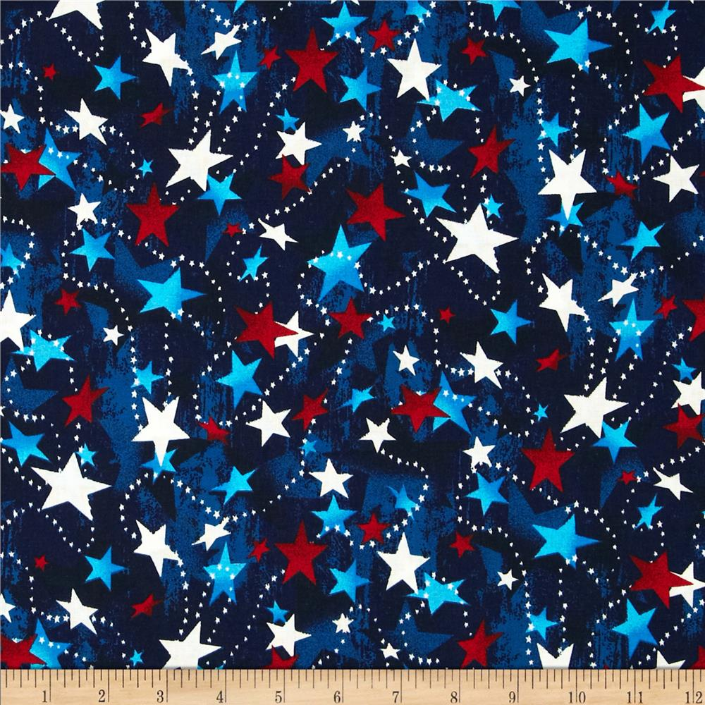 Made in the USA Stars Red, White, Blue - Discount Designer Fabric ...
