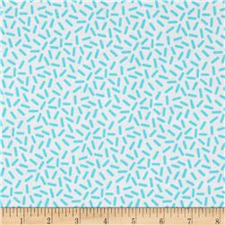 Knick Knack Scattered Ovals White/Sky Blue
