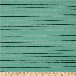 Cotton + Steel Cozy Pencil Stripe Mint