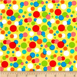 Jesus Loves Me Dots Yellow