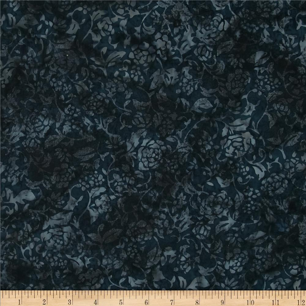 Bali Batiks Rose Silhoutte Midnight