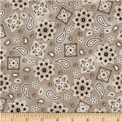 Cowgirl Up Bandana Tan Fabric