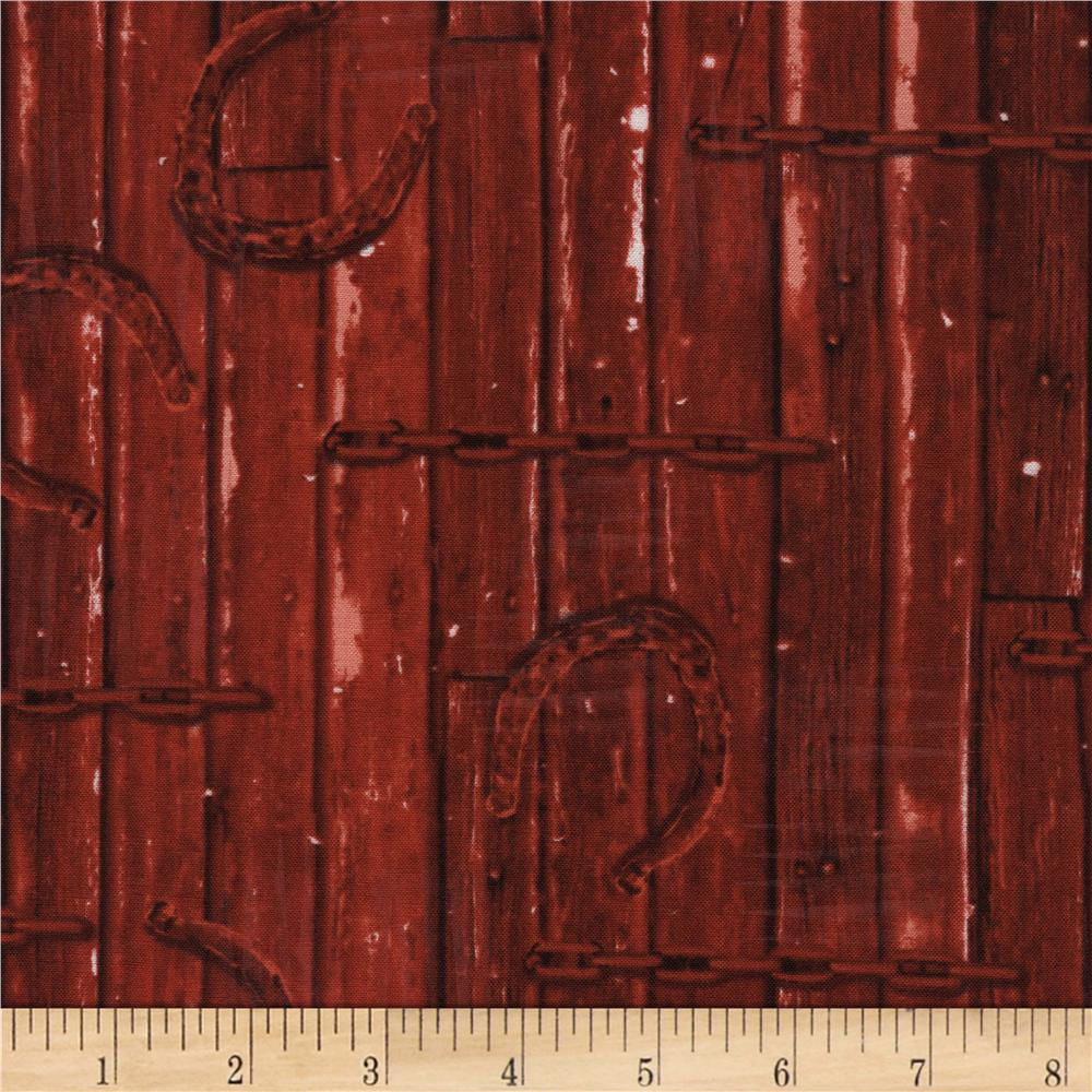 Timeless Treasures Judy Niemeyer's Reclaimed West Horseshoe Red