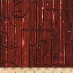 Judy Niemeyer's Reclaimed West Horseshoe Red Fabric