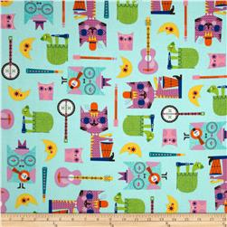 Jazz Between Friends Cool Cats Sweet Fabric