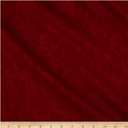 Georgette Home Decor Damask Jacquard Red