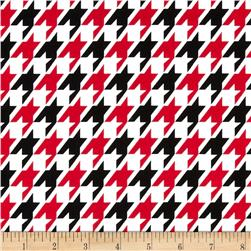 Remix Houndstooth Red Fabric