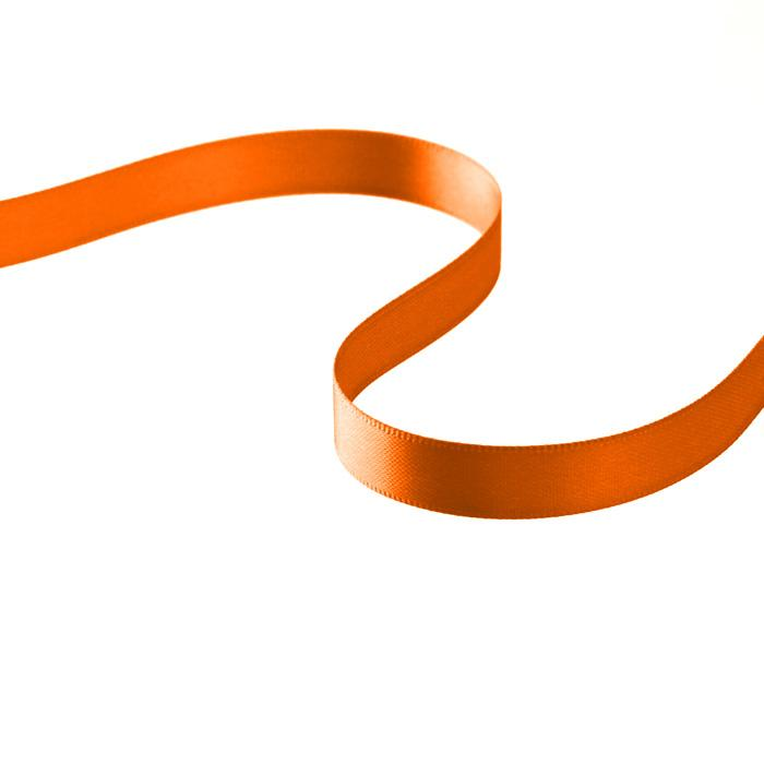 "3/8"" Double-sided Satin Ribbon Orange"