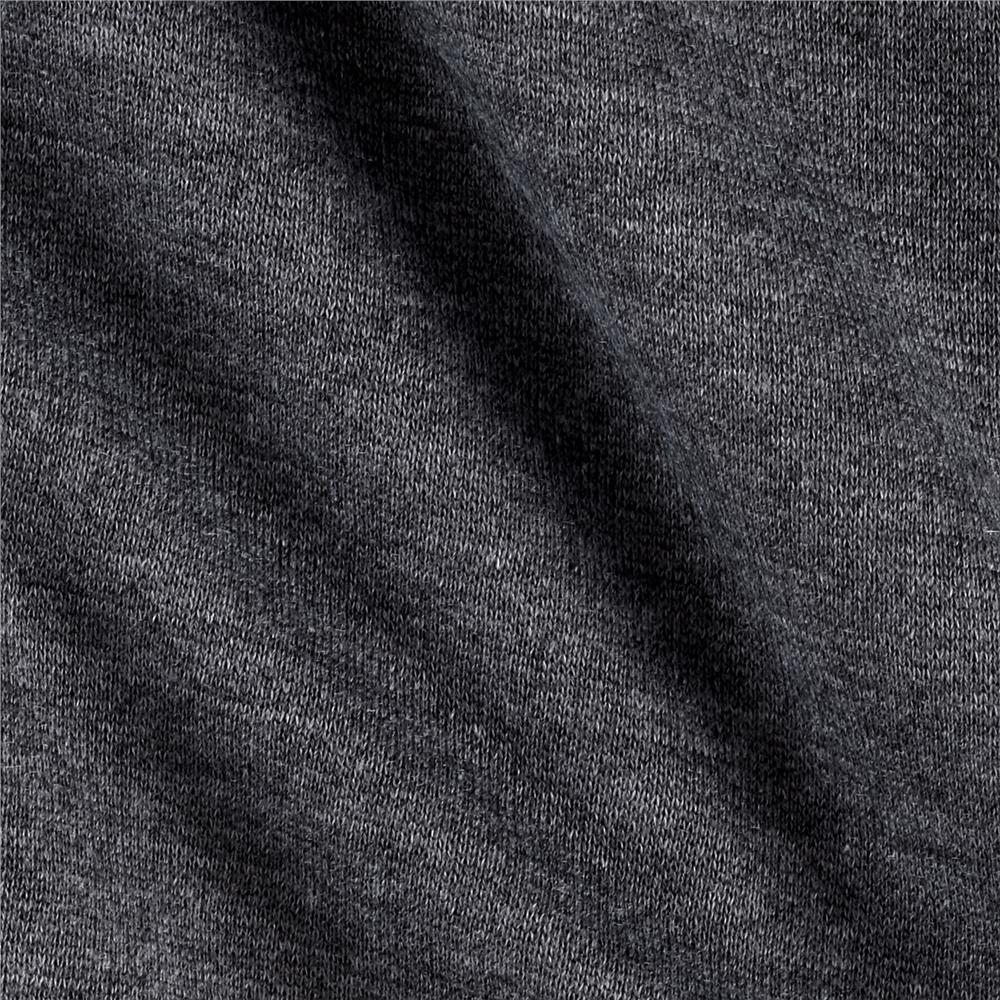 Sweatshirt Fleece Charcoal - Discount Designer Fabric - Fabric.com