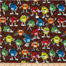 M&M Flannel Polka Dot  Brown