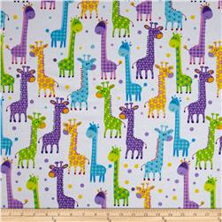 Flannel Giraffe Necks White