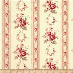 Tanya Whelan Petal Home Decor Sateen Antique Ticking Rose Pnk