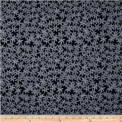 Michael Miller Sea Holly Star Flowers Black