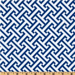Waverly Cross Section Blue Bonnet Fabric