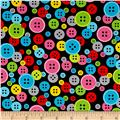 Sew Much Fun Buttons Black