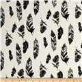 Telio Pebble Crepe Feather Print White/Black