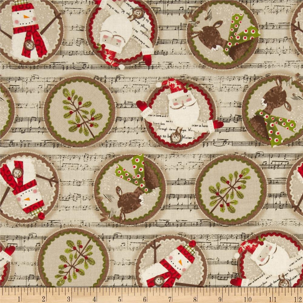 Holiday Stitches Holiday Circles Beige