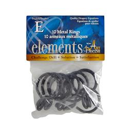 Elements by Art Decor 1 1/4'' Metal Rings