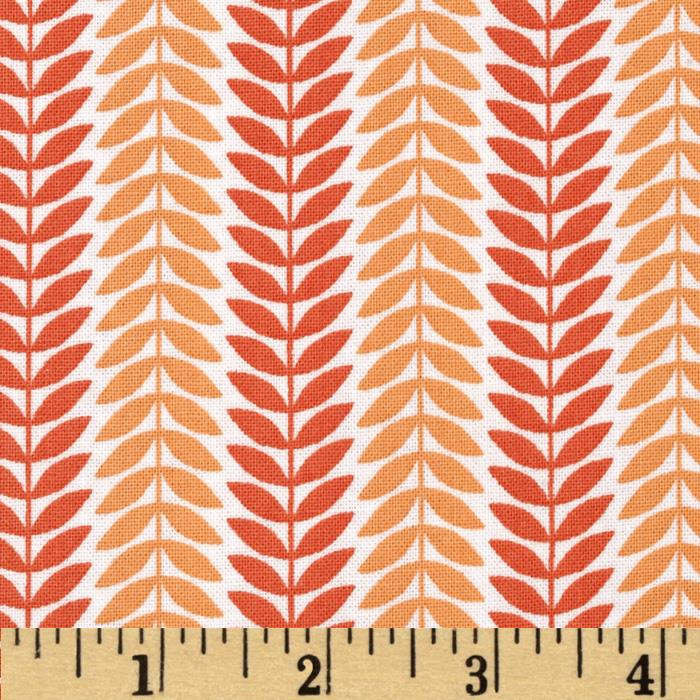 LuLu Leaf Stripe Orange