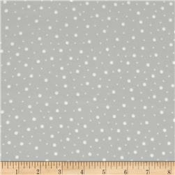 Kimberbell Little One Flannel Too! Random Dots Grey/White