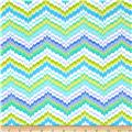 Flannel Chevron Blue/Green