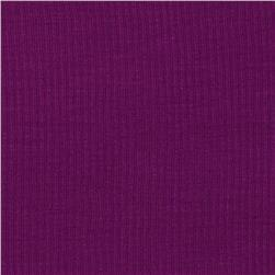 Stretch Rayon Rib Knit Bright Purple