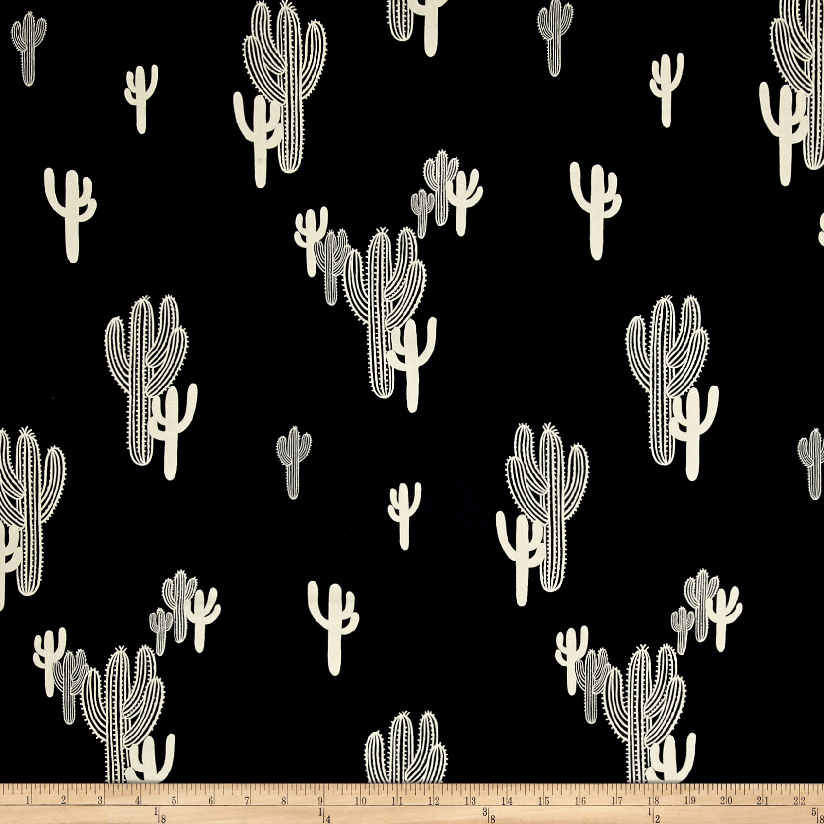 Alexander Henry Folklorico Solo Saguaro Navy Fabric by Alexander Henry in USA