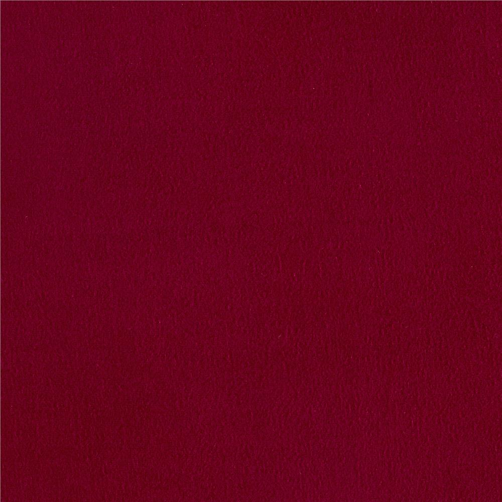 Double Brushed Poly Spandex Jersey Knit Wine