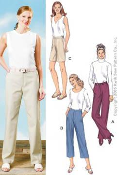 Kwik Sew Tailored Pants and Shorts Pattern