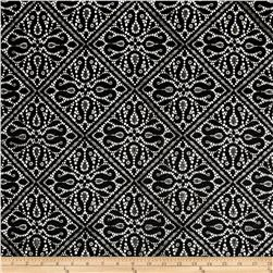 Medieval Tile Nylon Lace Black