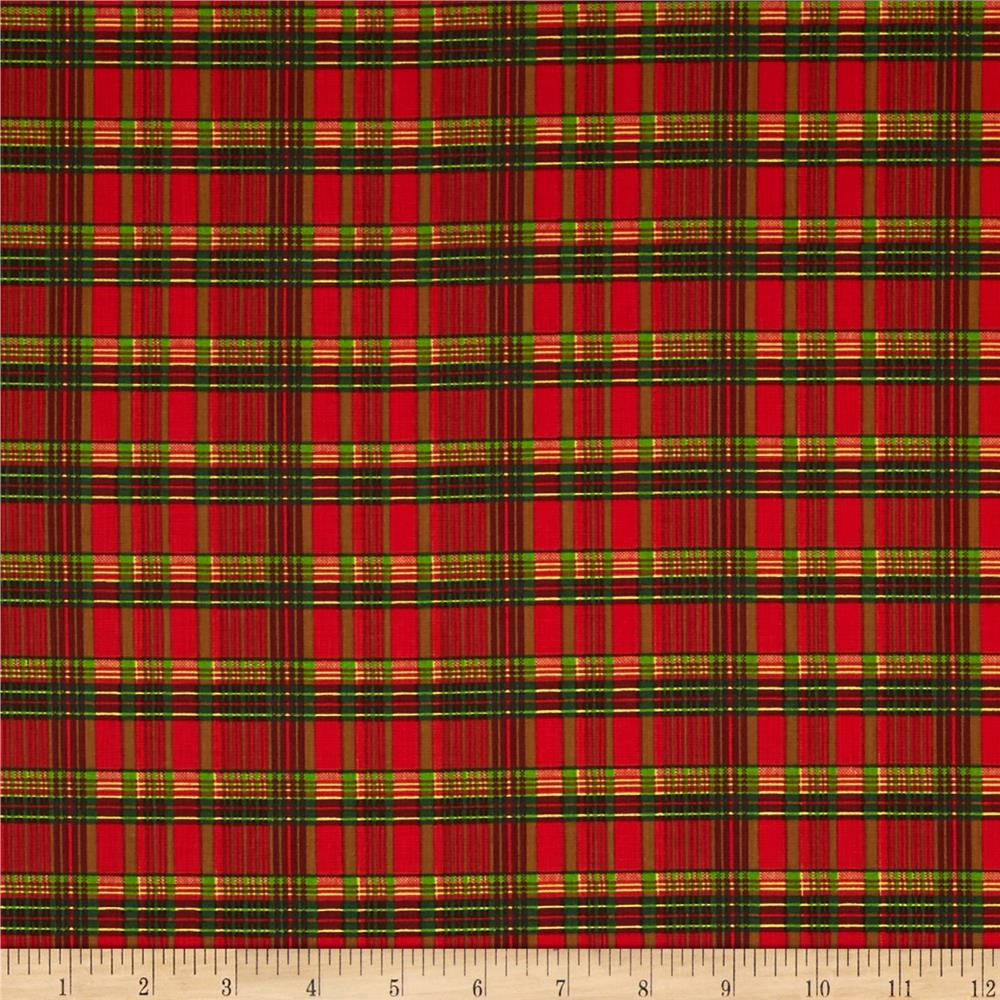 Old World Christmas Plaid Red1