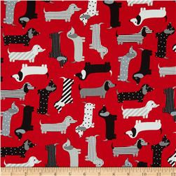 Kaufman Urban Zoology Weenie Dogs Red