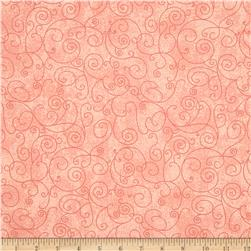 110 In. Wide Quilt Back Willow Peach