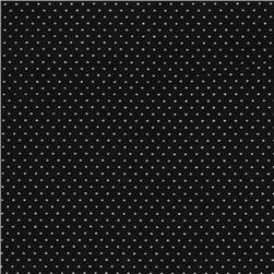 Pin Dot Black Fabric