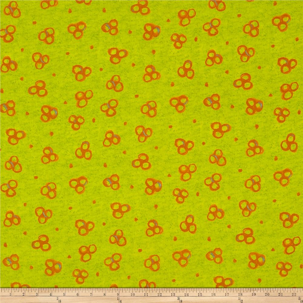 Color Matters Small Circles Lime Orange