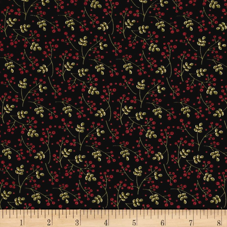 Moda Delightful December Winter Berries Ebony