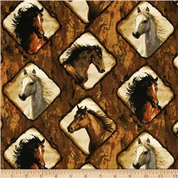 Wild Wings Independance Pass Horse Frames Brown