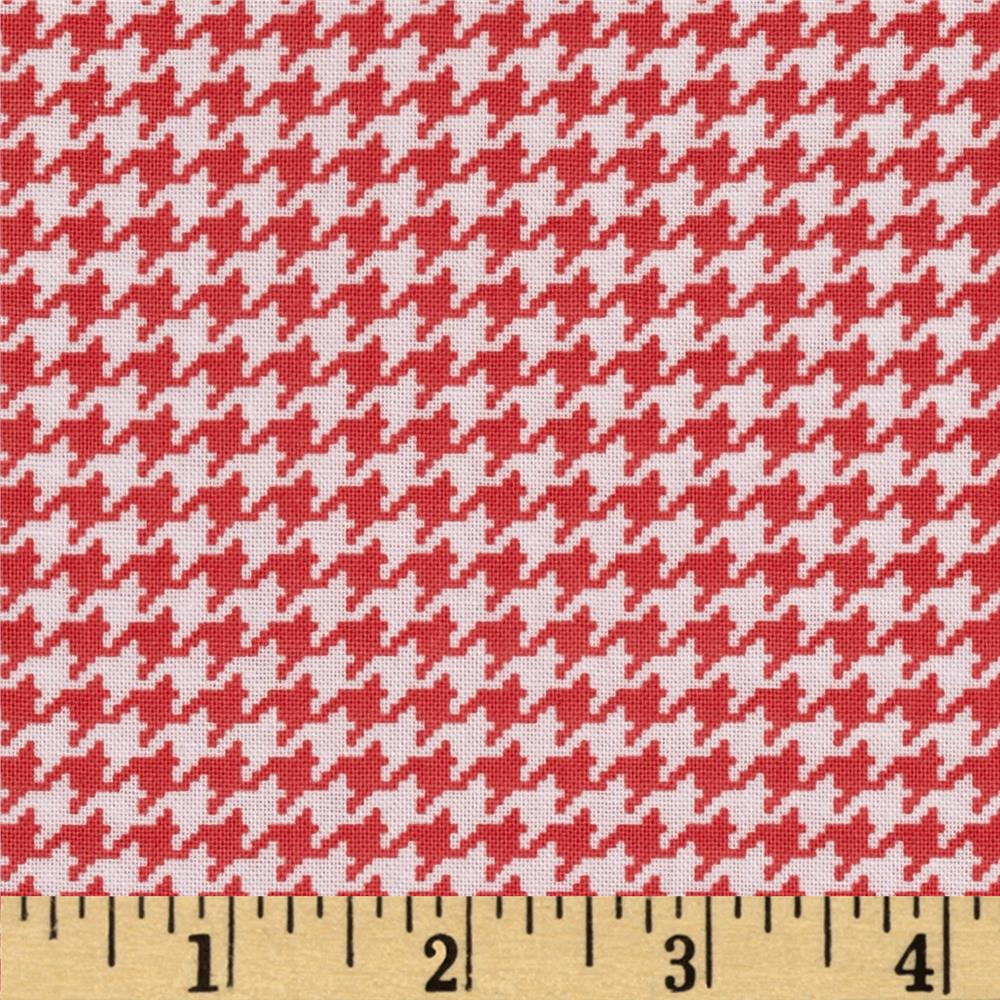 Michael Miller Tiny Houndstooth Paprika