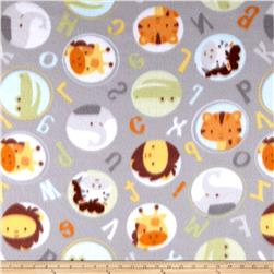 Polar Fleece Alphabet Zoo Grey