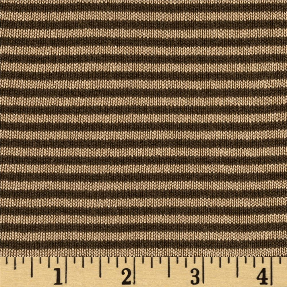 Rebecca's Cotton Hatchi Knit Stripes Brown/Tan