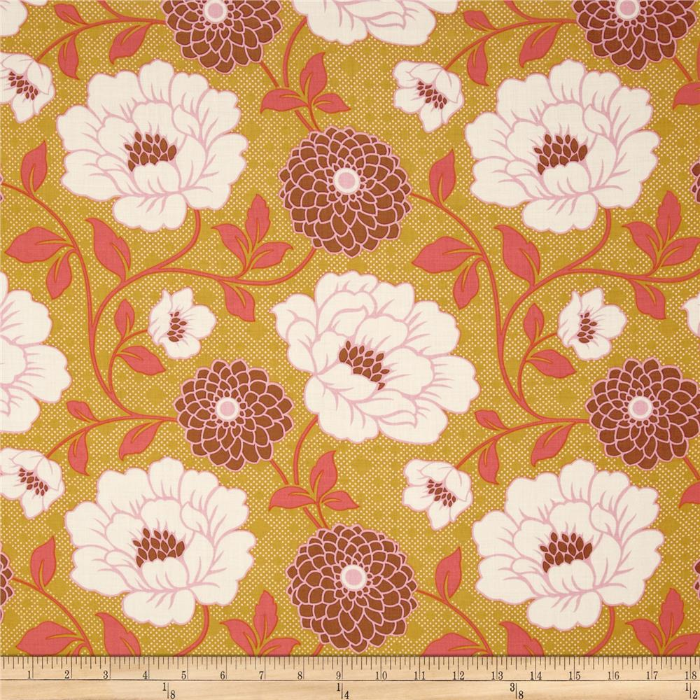 Joel Dewberry Bungalow Rayon Challis Dahlia Maize