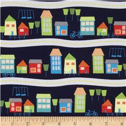 In Your Neighborhood Border Stripe Navy