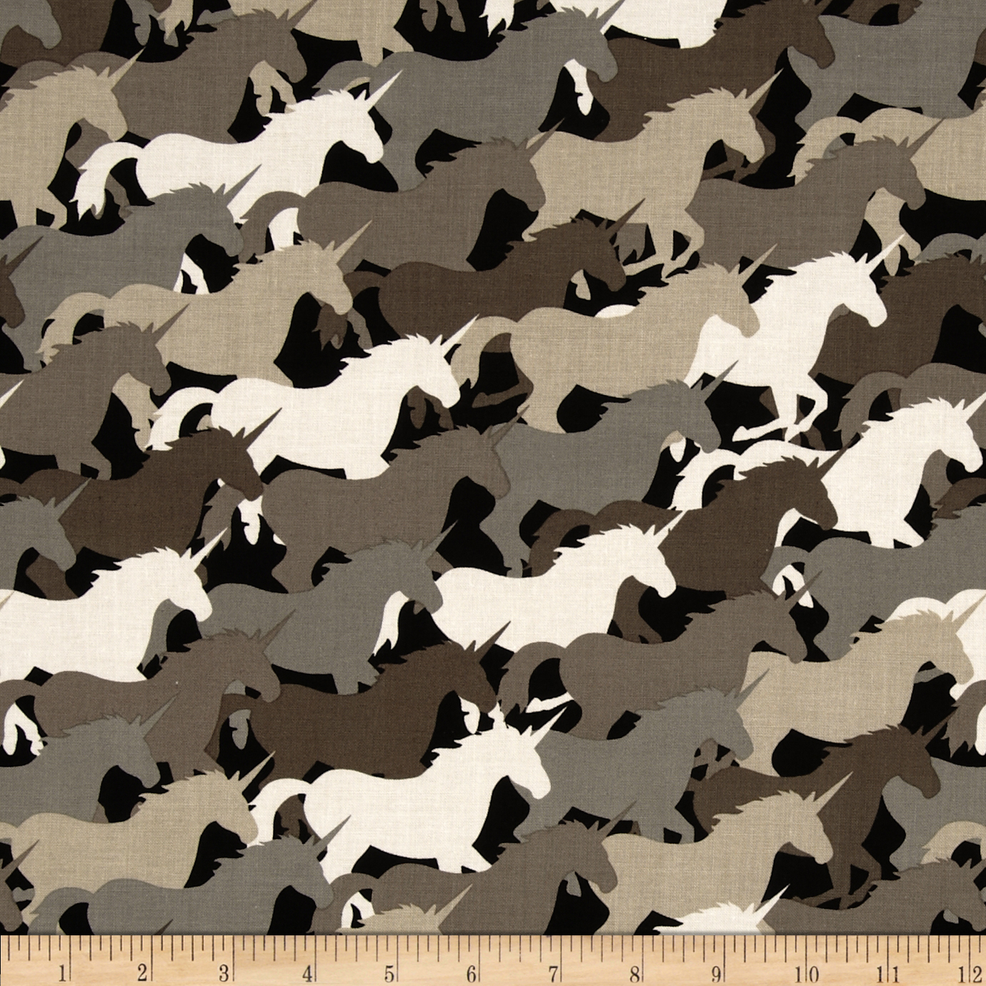 Michael Miller Unicorn Herd Taupe Fabric