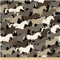 Michael Miller Unicorn Herd Taupe