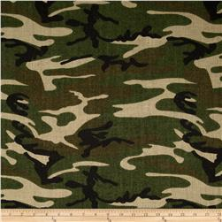 "60"" Sultana Burlap Camouflage Green"