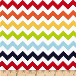 Riley Blake Knit Chevron Small Rainbow
