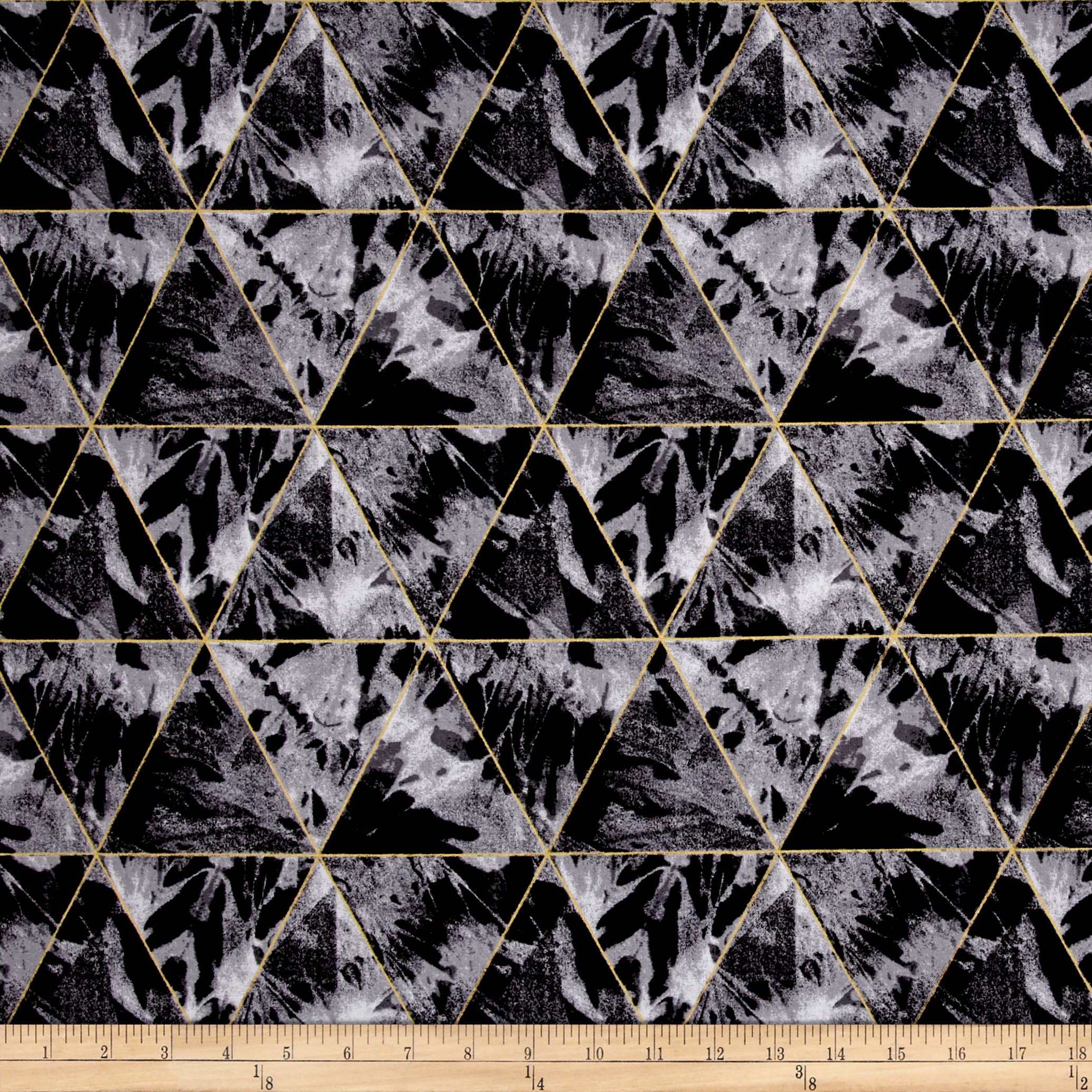 Andover When Sparks Fly Metallic Denim Dreams Concrete Fabric