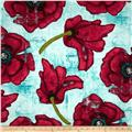 Michael Miller Poppies Big Poppy Aqua