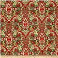 Winter Garden Metallic Paisley Damask Cream